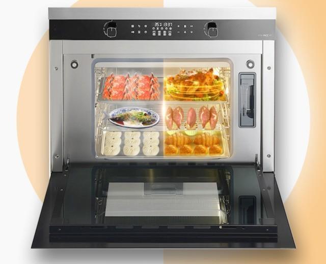 华太集成式燃气灶60L超大蒸烤箱